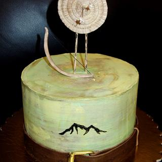 Cake with target and bow and arrows