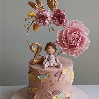 Peony Cake - Cake by Make & Bake Türkiye