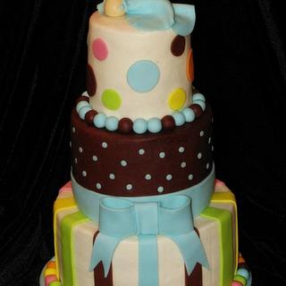 Sleeping Baby Shower Cake - Cake by Deborah