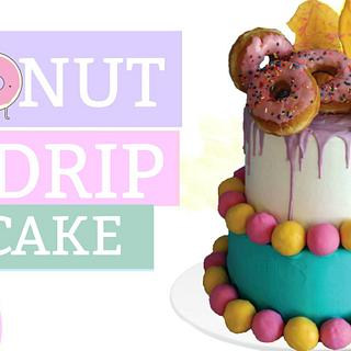 DONUT DRIP CAKE!!