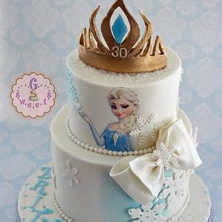 Frozen Milestone Birthday Cake
