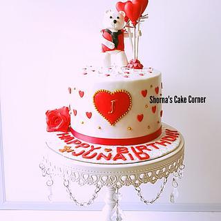 Polar bear heart cake - Cake by Shorna's Cake Corner