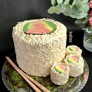 Sushi cake - Cake by Kaliss