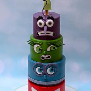 Inside Out birthday cake