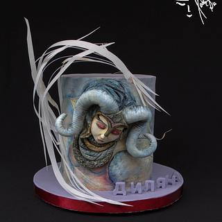 Zodiac sign aries - Cake by Diana
