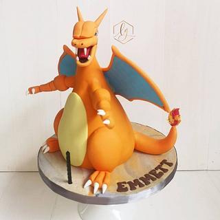 3D Pokemon Charizard cake - Cake by Lulu Goh