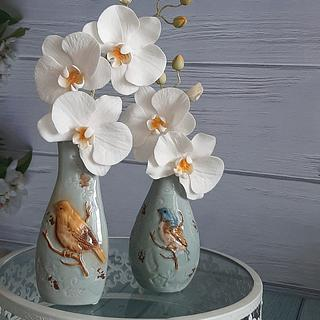 Sugar paste orchids - Cake by Couture cakes by Olga