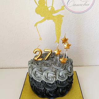 TARTA ROSAS NEGRAS - Cake by Camelia
