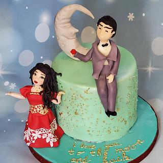 I love to the moon and back - Cake by Garima rawat