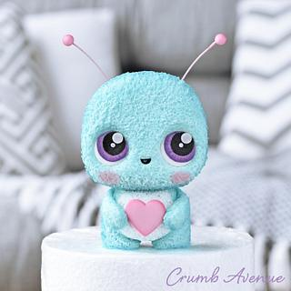 Cute Little Bug Cake Topper