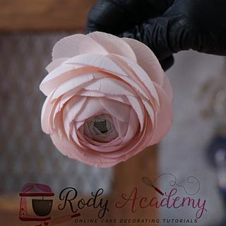 Renanculus flower  - Cake by Rody academy