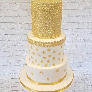 Sequin 3 tier cake