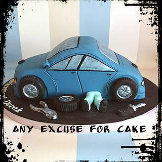 retirement car cake