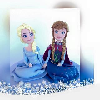 Topper Elsa and Anna