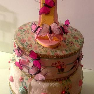 Butterflies fairy birthday cake