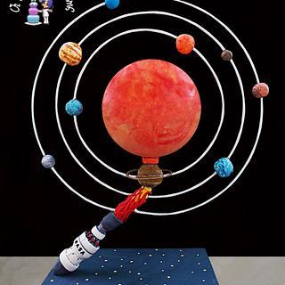 Planet System!!! Gravity cake