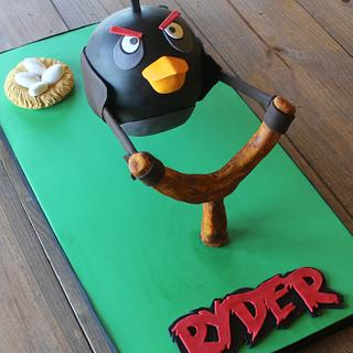 ~Angry Bird Cake~ - Cake by Bobbie Riddles