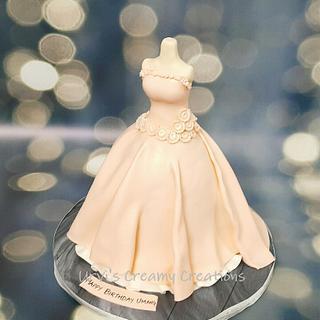 Classy Gown Cake - Cake by Urvi Zaveri