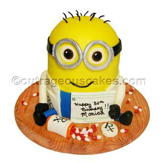 3d sculpted Minion cake