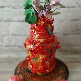 Rustic Pot  - Cake by Dr RB.Sudha