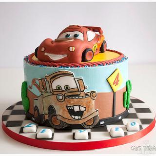 Lightening Mc Queen - Cars themed cake.