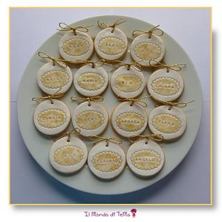 Place cards cookies