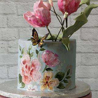 Summer bouquet cake