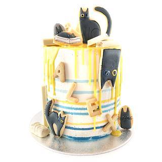 Cats - Cake by 27cakestudio