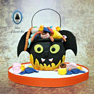 The Creepy Batty Candy Cauldron