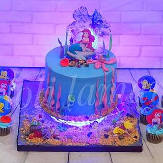 Mermeid cake with light