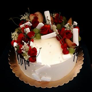 Romantic drip cake