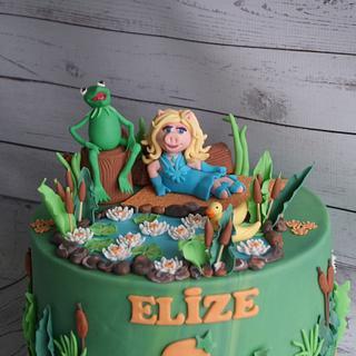 Muppet cake- Kermit and Miss Piggy