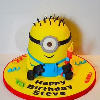Despicable Me Minion Cake - Cake by Strawberry Lane Cake Company