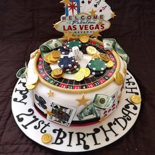 Las Vegas Theme Cake :)