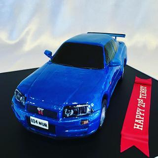 GTR34 3D Car Cake