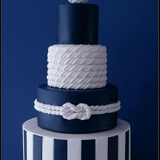 Nautical wedding cake - Cake by Wendy Schlagwein