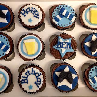 Men's Birthday Cupcakes - Cake by Caron Eveleigh