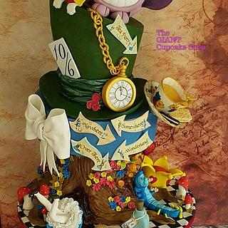 Alice in Wonderland - Cake by Amelia Rose Cake Studio