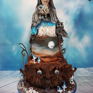 Halloween fantasie cake
