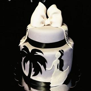 Anniversary Silhouette Cake - Cake by Tyla Mann