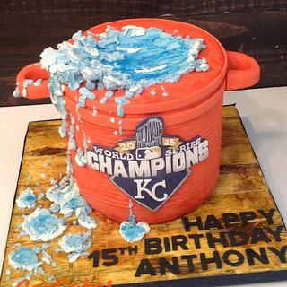 Gatorade Splash Cake - Cake by CopCakes