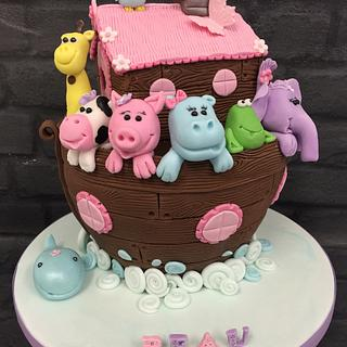 Girly Noah's Ark Cake