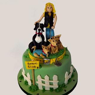 Dog Walking Cake