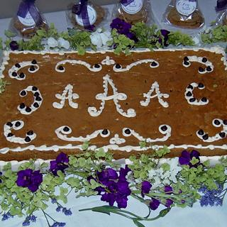 Chocolate Chip Grooms cookie cake