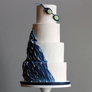 Abstract Swim Cake