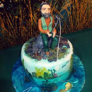 Fisherman Cake - Cake by EmyCakeDesign