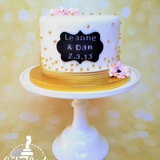 Simply Stunning Engagement Cake