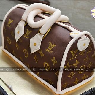 Louis Vuitton Handbag Cake - Cake by gigglesdeessertstop