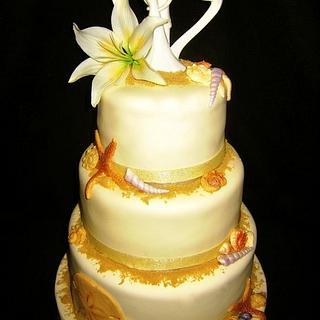 Beach Wedding Cake - Cake by Tyla Mann