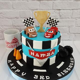 Cars race cake - Cake by Simo Bakery